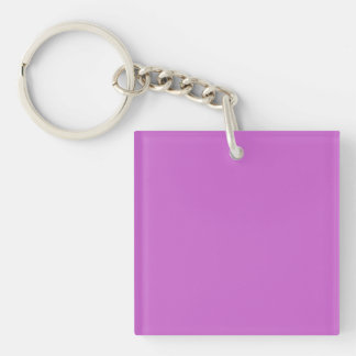 Fuchsia Template Double-Sided Square Acrylic Key Ring