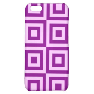 Fuchsia Tiles Cover For iPhone 5C