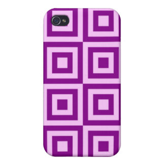 Fuchsia Tiles Cases For iPhone 4