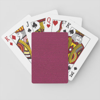 Fuchsia Triangles on Black Playing Cards