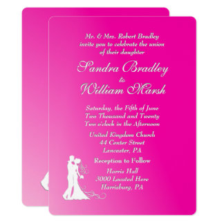 Fuchsia Wedding Invitation