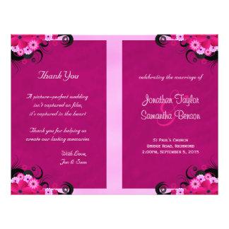 Fuchsia Wedding Programs Ceremony Wedding Party Flyers