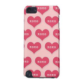 Fuchsia XOXO Hearts iPod Case