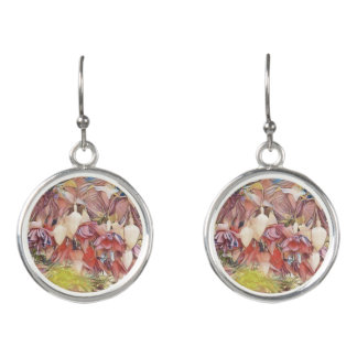 Fuchsias in Bloom Earrings