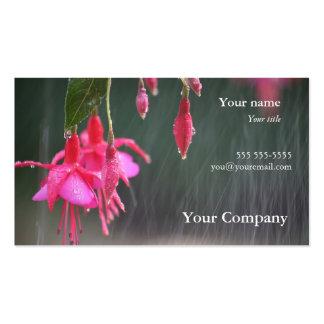 fuchsias in the rain business card