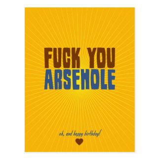 Fuck You Arsehole Postcard
