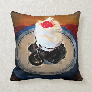 Fudge Brownie Sundae Throw Cushions