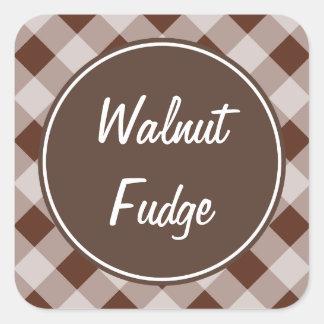 Fudge Gingham Kitchen Stickers