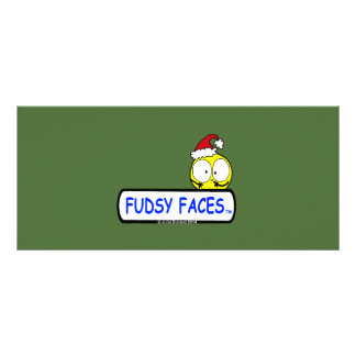 """""""Fudsy Faces""""-4"""" x 9"""" Rackcard-Christmas Logo Personalised Rack Card"""