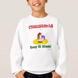 """Fudsy Faces"",Christmas Keep it Simple,Sweatshirt Sweatshirt"