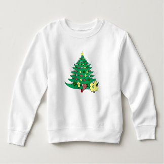 """Fudsy Faces', Christmas Tree,Sweatshirt Sweatshirt"