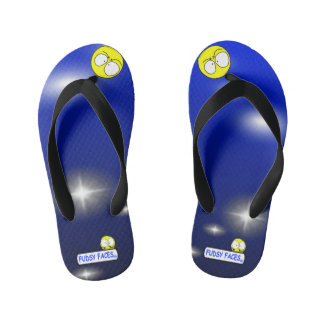 """Fudsy Faces""-Vertigo-Flip Flops for Kid's Flip Flops"