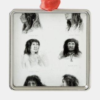 Fuegians, 1838 christmas ornament