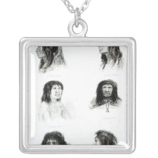 Fuegians, 1838 silver plated necklace