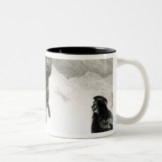 Fuegians going to trade in Zapallos Two-Tone Coffee Mug