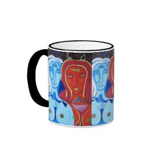 Fuego y Hielo Ringer Mug