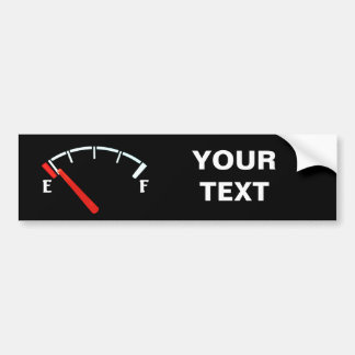 Fuel Gauge Gas Tank Full/Empty (personalized) Bumper Sticker