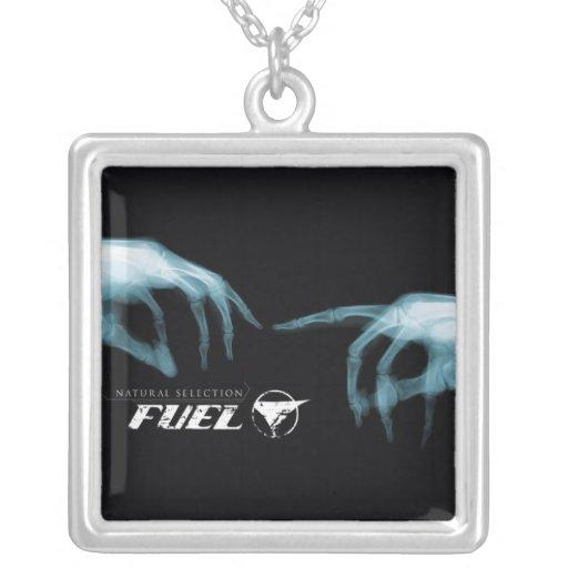 Fuel Square Pendant Necklace