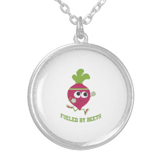 Fueled By Beets Silver Plated Necklace