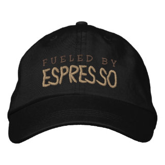 FUELED BY ESPRESSO EMBROIDERED CAP