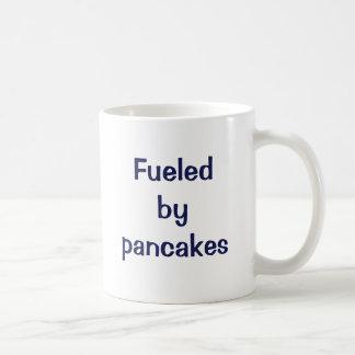 Fueled by pancakes. coffee mug