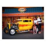 FuelFoto - Hot Rod Car Hops @ Drive In Invitations