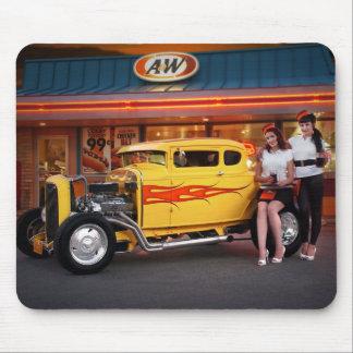 FuelFoto - Hot Rod Car Hops Drive In Mousepad