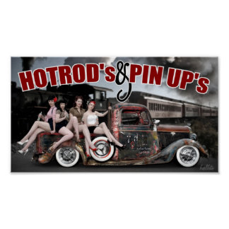 FuelFoto - Hot Rod's & Pin Up's Poster
