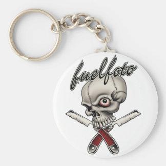 FuelFoto - Skull & Straight Razors Keychain