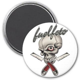 FuelFoto - Skull & Straight Razors Magnet