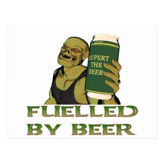 Fuelled by beer postcard