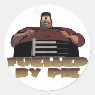 Fuelled by pie classic round sticker