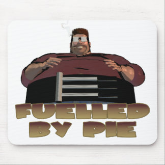 Fuelled by pie mousemats