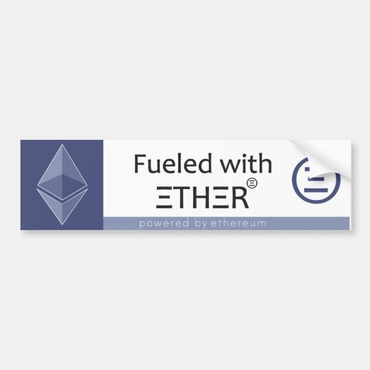 Fuelled with Ether Bumper Sticker