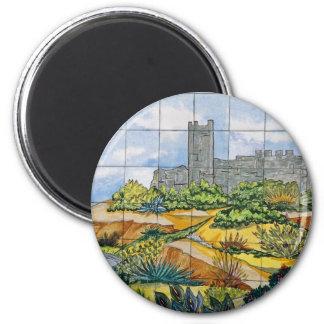 Fuengirola Castle tile, Fuengirola, Malaga, Sp Magnet