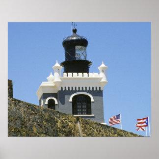 Fuerte San Felipe del Morro's grey castellated Poster