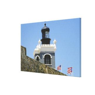 Fuerte San Felipe del Morro's grey castellated Stretched Canvas Print
