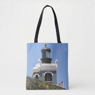 Fuerte San Felipe del Morro's grey castellated Tote Bag