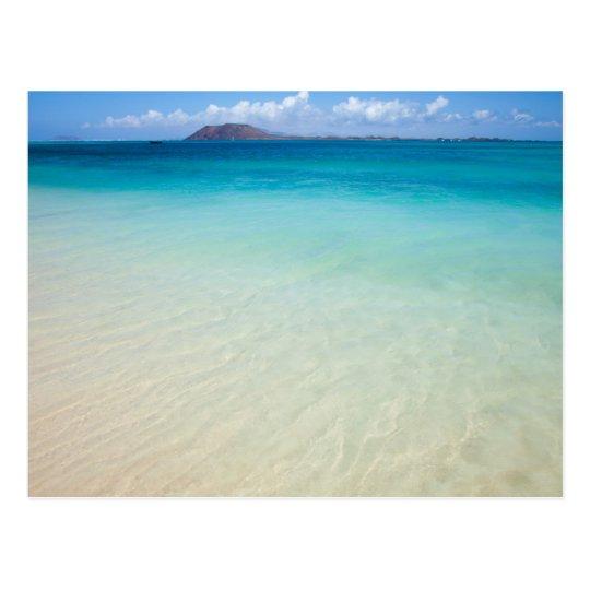 Fuerteventura, Corralejo flag Beach postcard