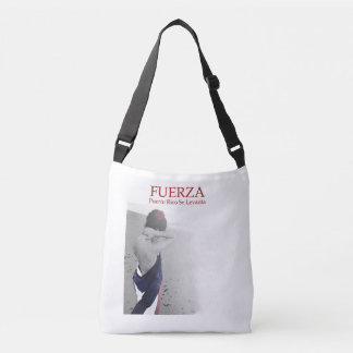 Fuerza - image with text crossbody bag