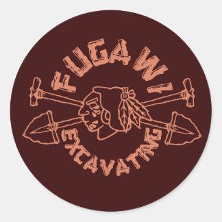 FUGAWI EXCAVATING CLASSIC ROUND STICKER