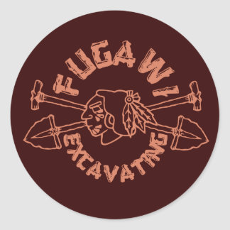 FUGAWI EXCAVATING ROUND STICKER