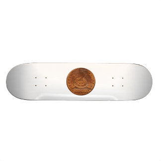 Fugio Cent Mind Your Business Copper Penny 18.1 Cm Old School Skateboard Deck