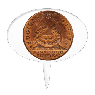 Fugio Cent Mind Your Business Copper Penny Cake Picks