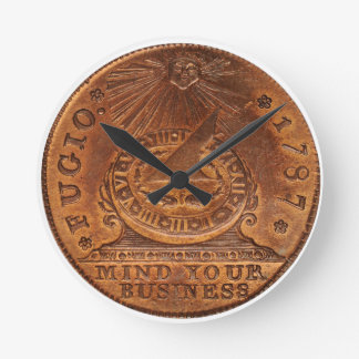 Fugio Cent Mind Your Business Copper Penny Clocks