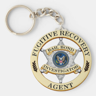 Fugitive Recovery Agent Basic Round Button Key Ring