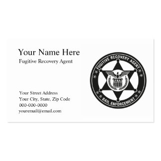 FUGITIVE RECOVERY AGENT Business Cards