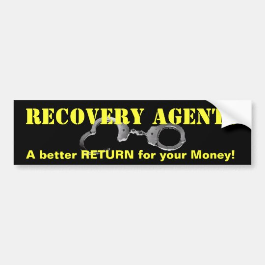 Fugitive Recovery Bumper Sticker