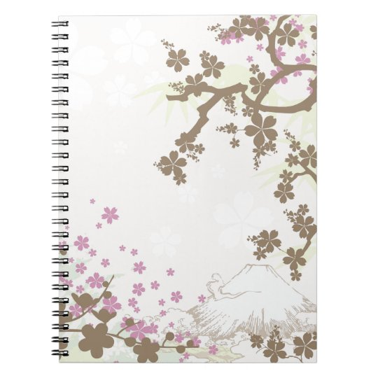 Fuji and Sakura - brown Notebooks