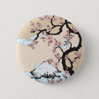 Fuji and Sakura Button
